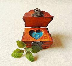 Krabičky - Drevená krabička na prsteň Čarovné polienko - 12208922_