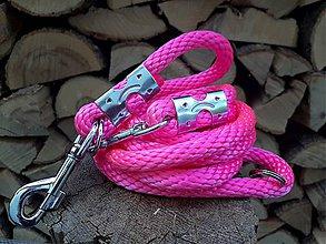 Pre zvieratká - Vodítko prepinacie neonovo ružové - 12211183_