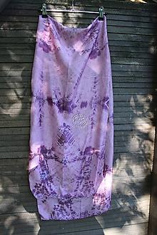 Šály - silk carf_hodvábna šála 180x45cm batika - 12208806_