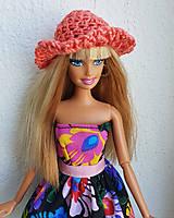 Hračky - Lososový klobúčik pre Barbie - 12211207_