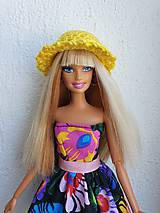 Hračky - Žltý klobúčik pre Barbie - 12211221_