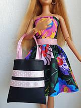 Hračky - Čierna kabelka s ružovou stuhou - 12211409_