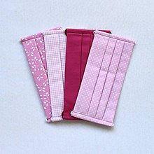 Rúška - VÝPREDAJ ! RÚŠKO - Ružový set - 4 ks - 12210864_