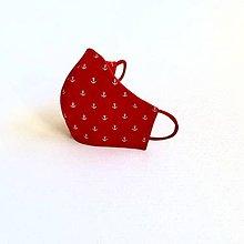 """Rúška - DÁMSKE RÚŠKO NA TVÁR """" červené kotvičky """" - 12211074_"""