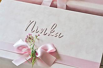 Krabičky - Pamiatková krabička (25 x 20 x 10 cm- zatváranie na magnet- ružová) - 12210756_