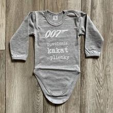 Detské oblečenie - 007 Povolenie kakať do plienky - detské body - 12210293_