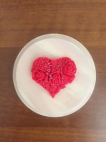 Darčeky pre svadobčanov - Svadobný vonný vosk - srdiečko s ružičkami - 12210661_