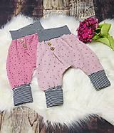 Detské oblečenie - Rastúce háremky (86-92 - Ružová) - 12209961_