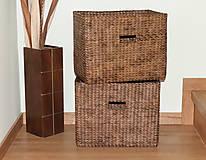 Košíky - Úložné boxy do police (2ks) - 12211424_