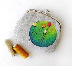Taštičky - Peňaženka XL Zelený kruh - 12211108_