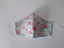 Rúška - VÝPREDAJ dámske dizajnové rúško prémiová bavlna antibakteriálne s časticami striebra dvojvrstvové tvarované - 12213568_