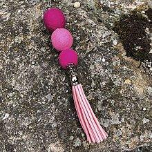 Náhrdelníky - Ružový neónový - 12212588_