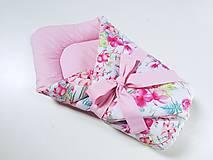 Textil - Zavinovačka kolibríky + kvety - 12213477_