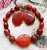 Sady šperkov - sardonyx- karneol, achát - 12212192_