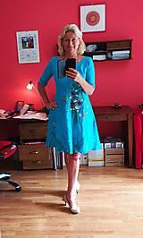 """Šaty - Ľanové maľované šaty """"Lúčna kytica II. """" - 12212501_"""