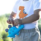 Detské oblečenie - body DINO - ORANŽOVÝ - TYRANOSAURUS (dlhý/krátky rukáv) - 12212097_