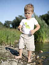 Detské oblečenie - body DINO - ZELENÝ - BRACHIOSAURUS (dlhý/krátky rukáv) - 12213813_