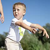 Detské oblečenie - body DINO - ZELENÝ - BRACHIOSAURUS (dlhý/krátky rukáv) - 12213818_