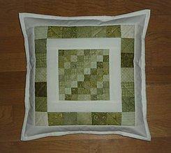 Úžitkový textil - Obliečka na vankúšik (zelený) - 12214042_