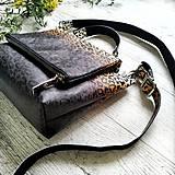 Kabelky - Kabelka SWEET BAG - leopardí vzor so srdiečkami (hnedý prechod) - 12213159_