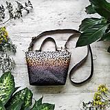 Kabelky - Kabelka SWEET BAG - leopardí vzor so srdiečkami (hnedý prechod) - 12213164_