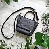 Kabelky - Kabelka SWEET BAG - čierna s matným leskom - 12213179_