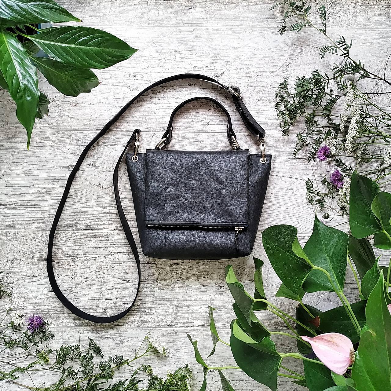 Kabelka SWEET BAG - čierna s matným leskom