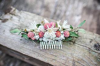 Ozdoby do vlasov - Kvetinový hrebienok do vlasov - 12214136_