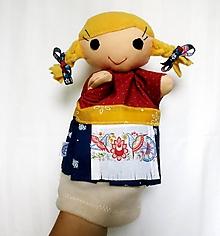 Hračky - Maňuška folk dievčinka - 12214272_