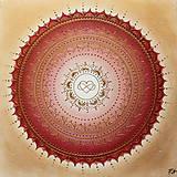 Obrazy - Mandalka LÁSKA A ROMANTIKA 50 X 50 - 12212064_