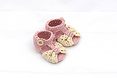 Topánočky - Staroružovo-béžové sandálky FINE - 12212912_