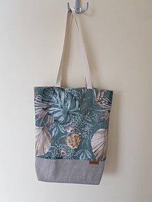 Nákupné tašky - Taška listy - 12213149_