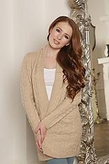 Svetre/Pulóvre - elegantný béžový sveter - 100% kašmír - 12212845_