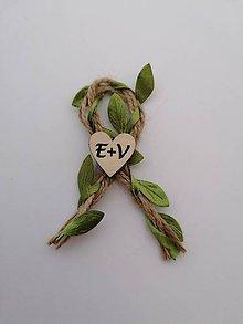 Pierka - Prírodné svadobné pierka s inicialmi - 12211829_
