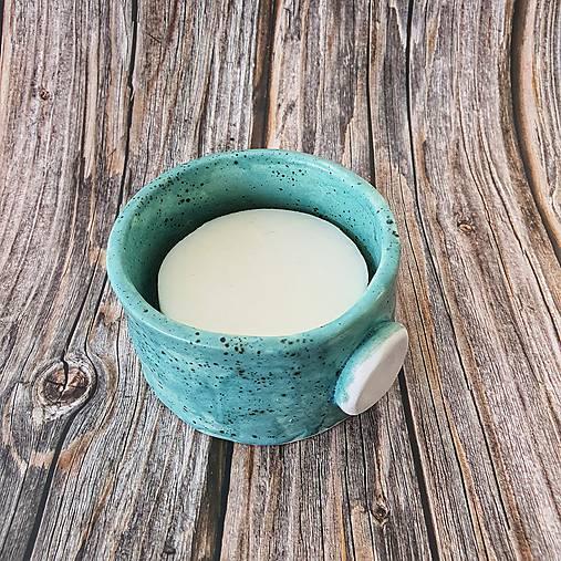 Keramická miska na mydlo na holenie, 11 cm