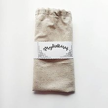 Drogéria - Bavlnené / ľanové vrecko na mydlo - 12211963_