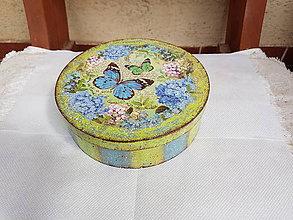 Krabičky - Krabica Hortenzie a motýle - 12213262_
