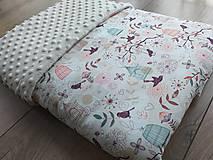 """Textil - Minky deka """"Vtáčatko"""" - 100x70cm - 12211732_"""