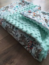 """Textil - Minky deka """"Medvedík čistotný"""" - 100x70cm - 12211739_"""