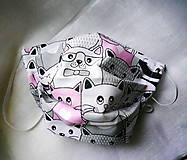 Rúška - Ochranné rúško na tvár - dvojvrstvové - skladom - 12211723_