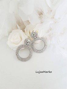 Náušnice - Svadobné kruhy - 12213582_