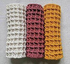 Úžitkový textil - Háčkované koberčeky do kúpeľne - 12217771_
