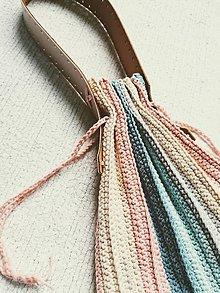 Kabelky - Dúhové háčkované kabelky - 12217787_