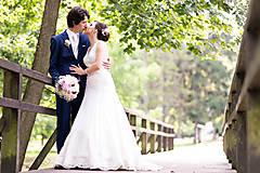 Šaty - Danica, hodvábne svadobné šaty - 12217342_
