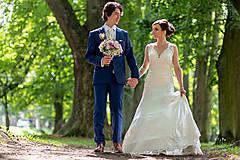Šaty - Danica, hodvábne svadobné šaty - 12217344_