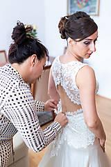 Šaty - Danica, hodvábne svadobné šaty - 12217345_