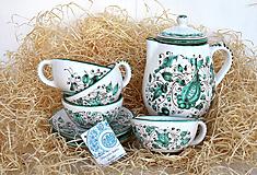 Nádoby - Praktická sada 1: Zelená čajová súprava - 12215697_