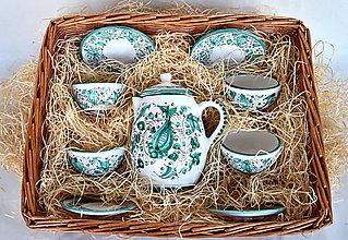 Nádoby - Praktická sada 1: Zelená čajová súprava - 12215696_