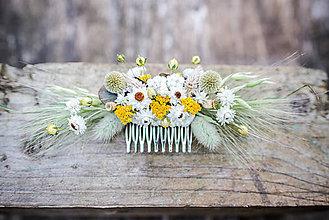 Ozdoby do vlasov - Kvetinový hrebienok do vlasov - 12214755_