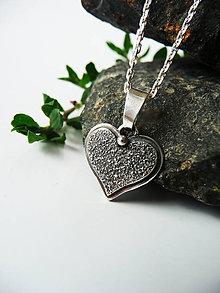 """Náhrdelníky - Strieborný šperk Ag925 """"Energia srdca"""" - 12215034_"""